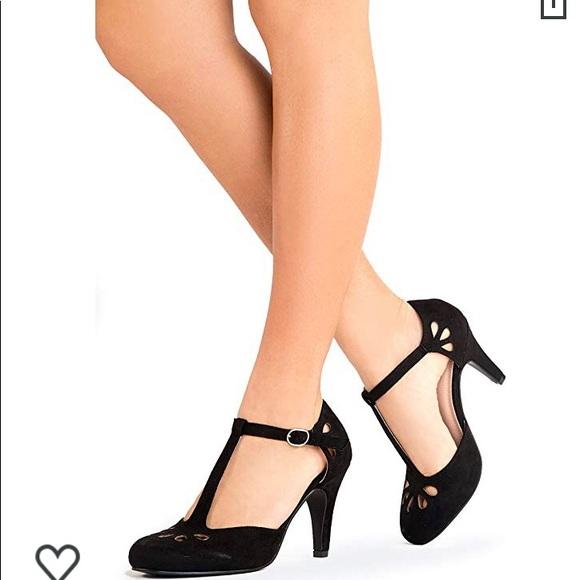 Retro Roaring 2s Black Maryjane Heels